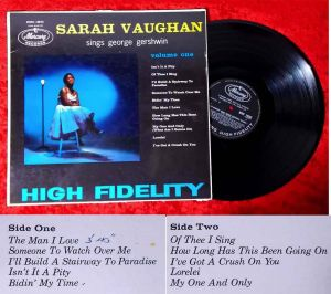 LP Sarah Vaughan Sings George Gershwin (Mercury MMC 14095) UK 1958