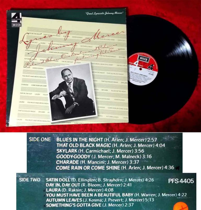 LP Johnny Mercer: Great Lyricists w/Roland Shaw (Decca Phase 4 PFS 4405) UK 1977