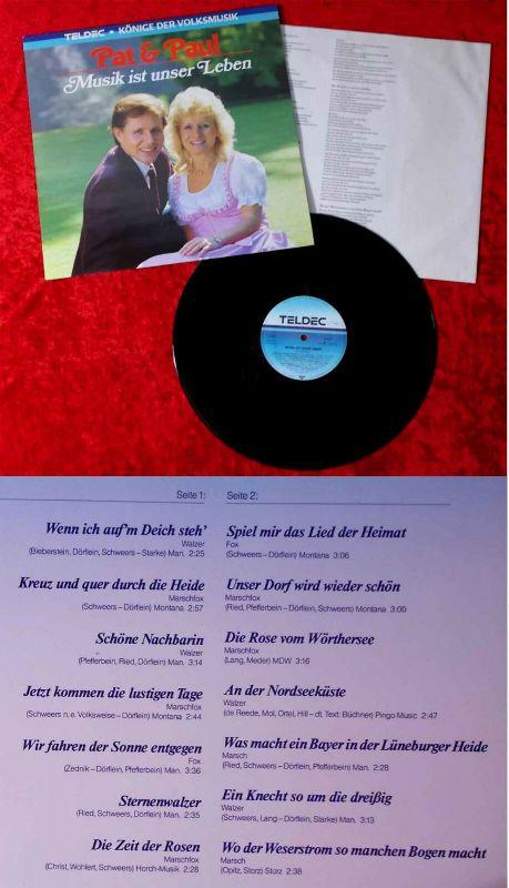 LP Pat & Paul: Musik ist unser Leben (Teldec 626271 AP) D 1986