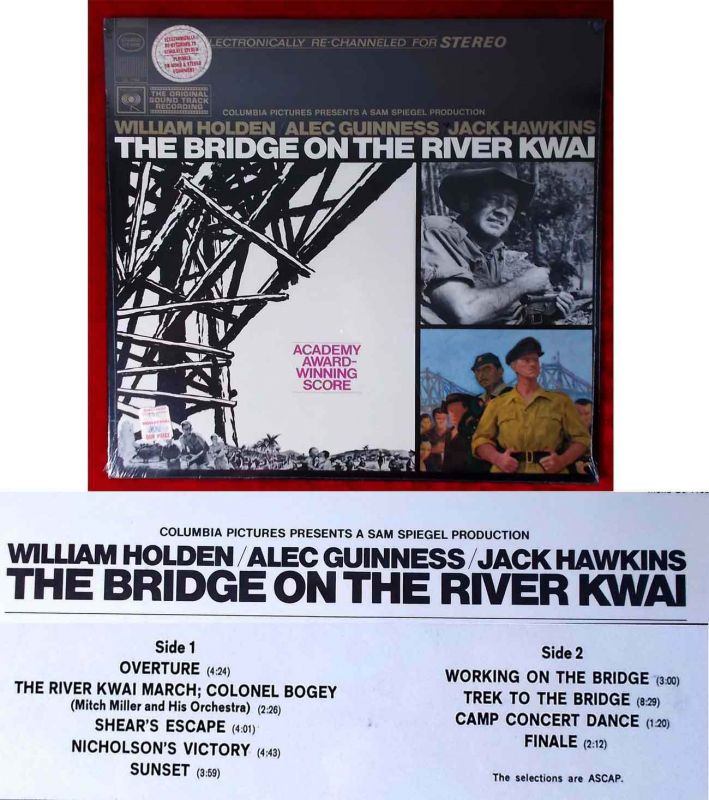 LP Bridge on the River Kwai - Soundtrack - feat Mitch Miller (Columbia CS 9426)
