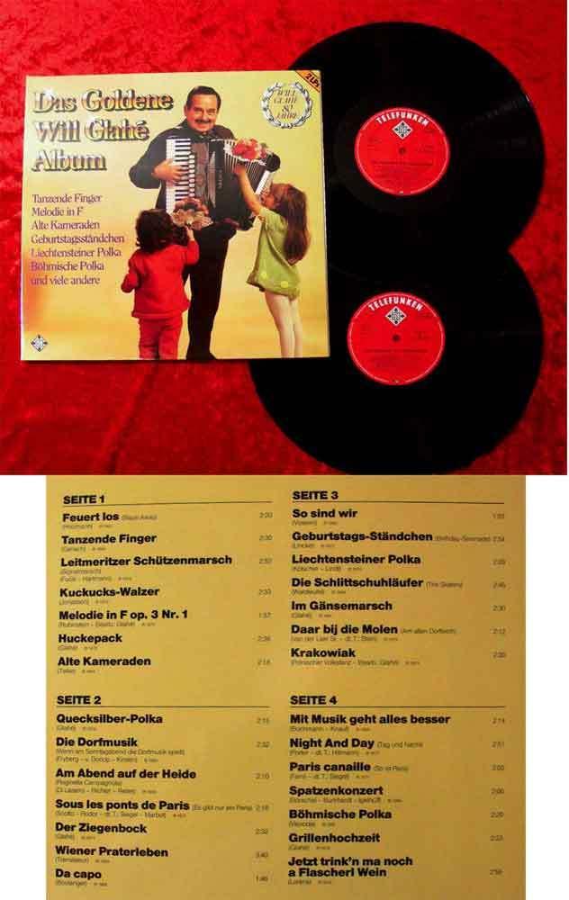2LP Will Glahé: Das Goldene Will Glahé Album
