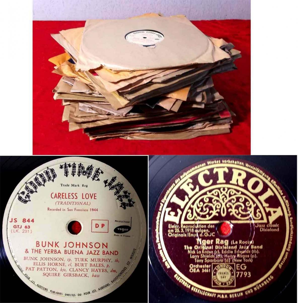 54 Original 78er Schellackplatten JAZZ & SWING - Jelly Roll Morton King Oliver..