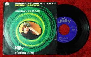 Single Nicola di Bari: Amore Ritorna A Casa (Jolly J 20229 X 45)  Italy 1964