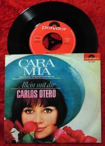 Single Carlos Otero: Cara Mia (Polydor 52 555) D 1965