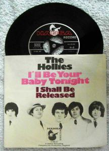 Single Hollies: I´ll Be Your Baby Tonight (Hansa 14 368 AT) D