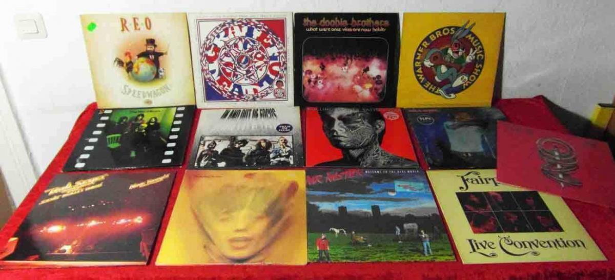 15 Langspielplatten ROCK/POP - ROLLING STONES GRATEFUL DEAD.. - Vinylsammlung -