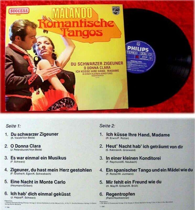 LP Malando Romantische Tangos