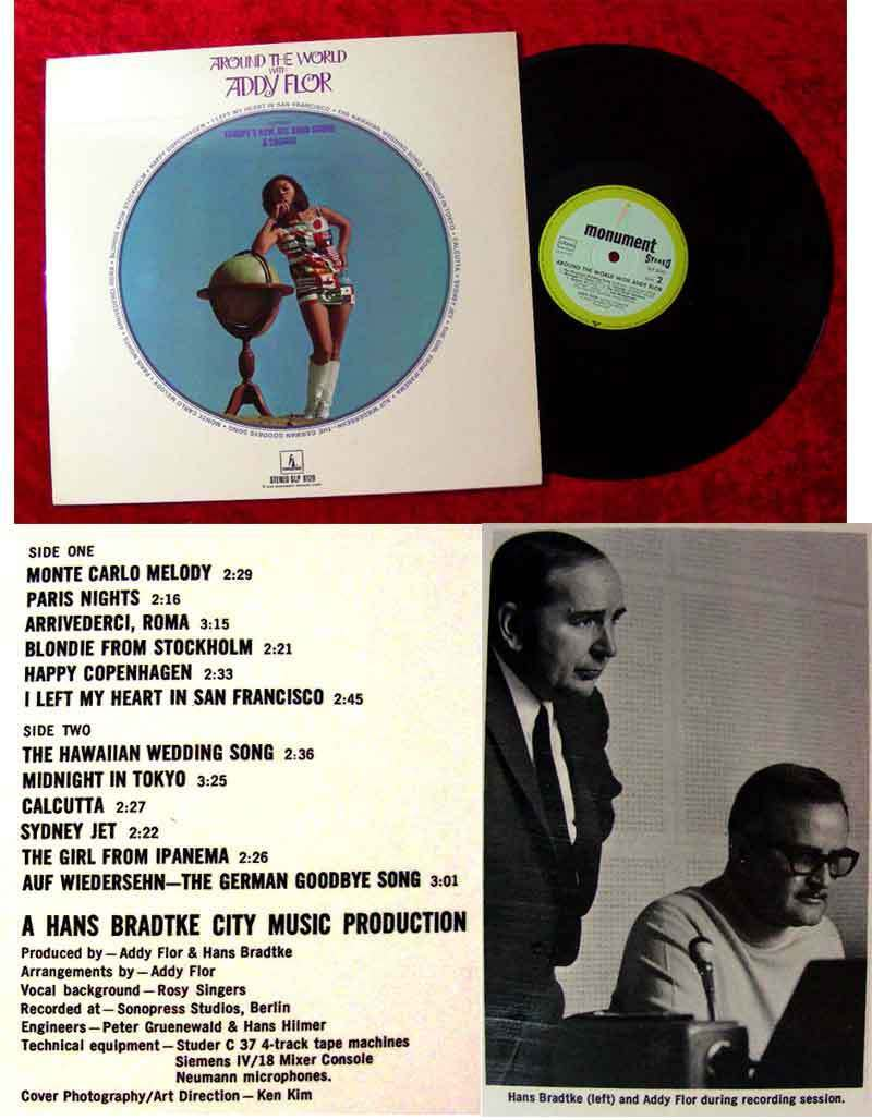 LP Addy Flor: Around the World with Addy Flor (1969)