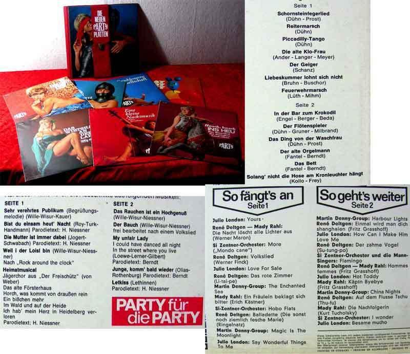 7LP Box Die neuen Party Platten (im Album) Playboy Party - Husch, husch ins Heu