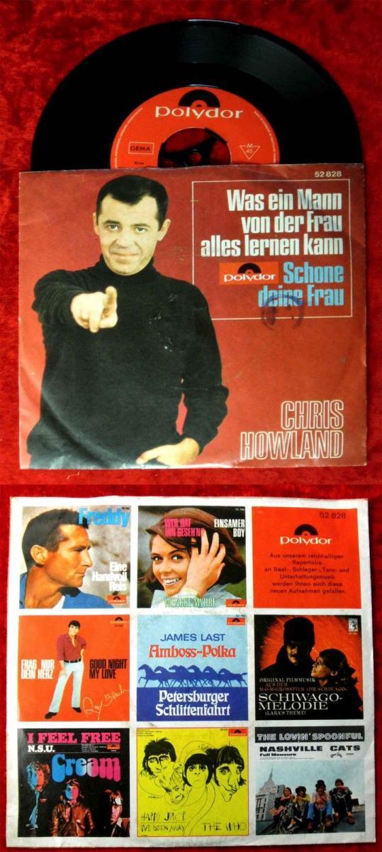 Single Chris Howland: Was ein Mann von der Frau alles lernen kann (Polydor) D 67 0