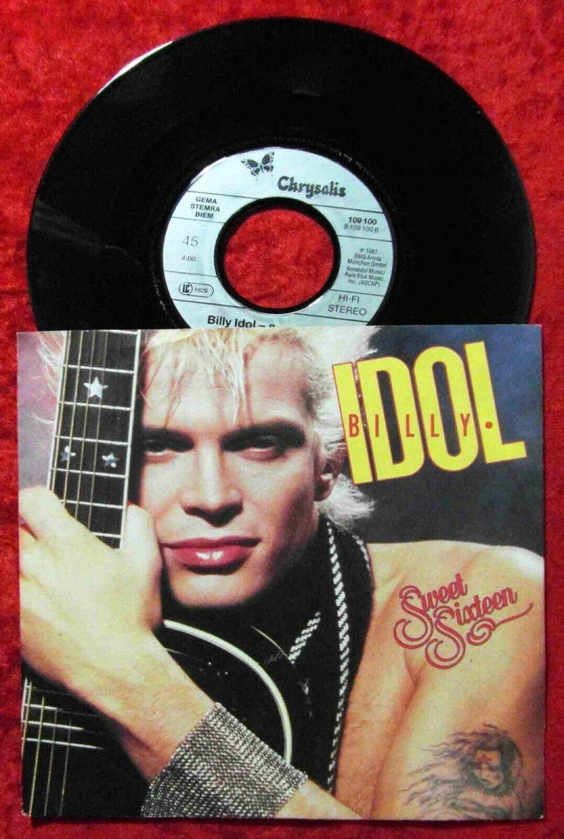 Single Billy Idol: Sweet Sixteen (Chrysalis 109 100) D 1987 0
