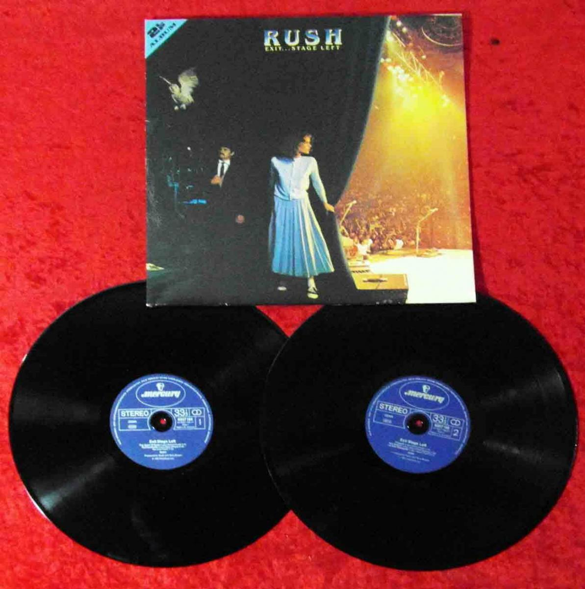 2LP Rush: Exit...Stage Left (Mercury 6619 053) D
