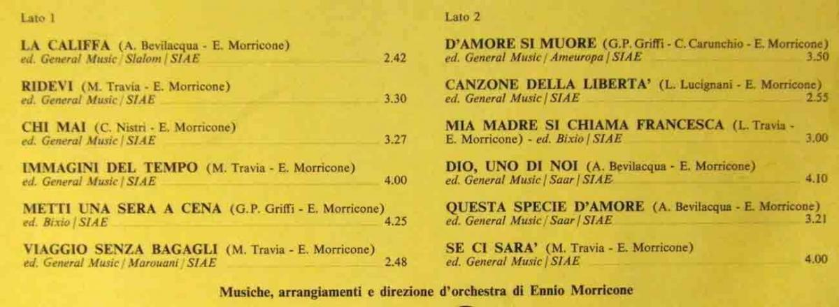 LP Milva: Dediacto a Milva da Ennio Morricone (Dischi MLP 15 928) D 1977 1