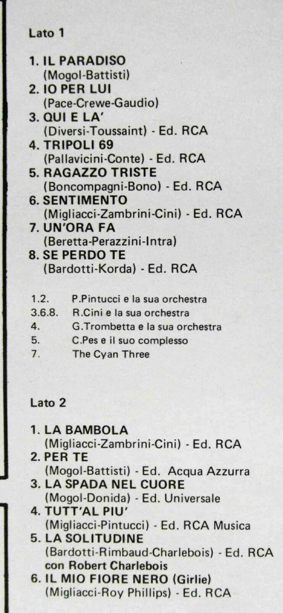 LP Patty Pravo: I Successi Di (RCA NL 33045) Italy 1977 1