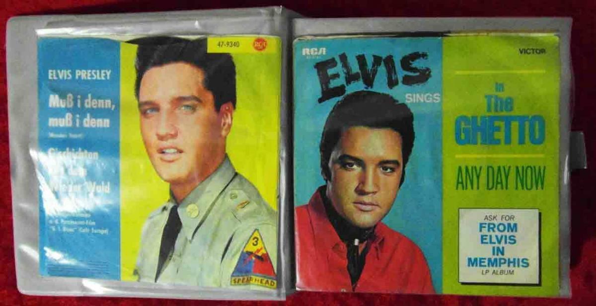 20 Original Singles im Album ROCK`n ROLL ELVIS PRESLEY...  - Vinylsammlung -