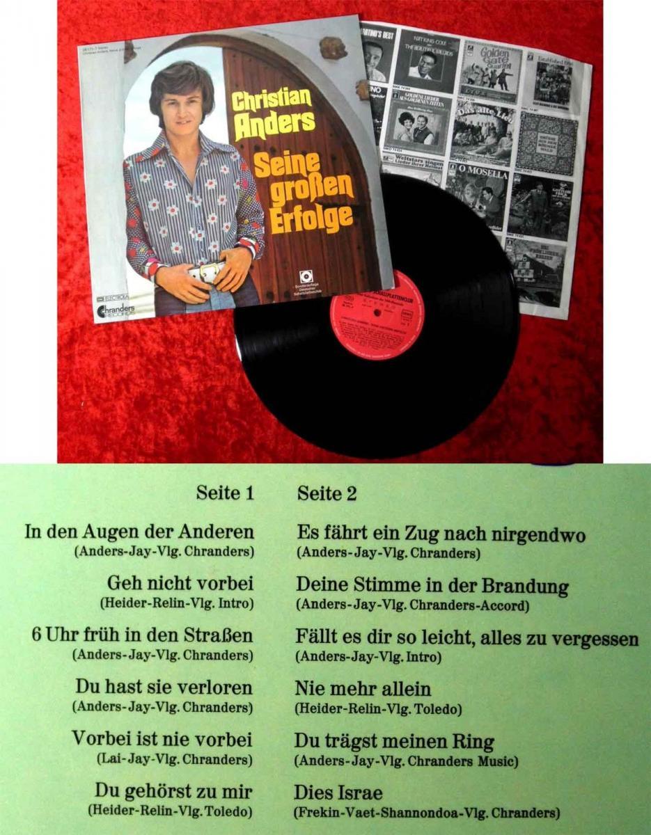 LP Christian Anders: Seine großen Erfolge (Chranders 28 171-7) Clubauflage