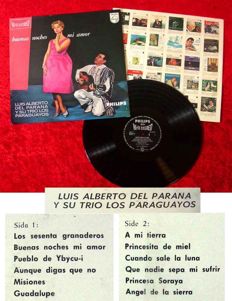 LP Luis Alberto del Parana y su Trio Los Paraguayos: Buenas Noches Mi Amor