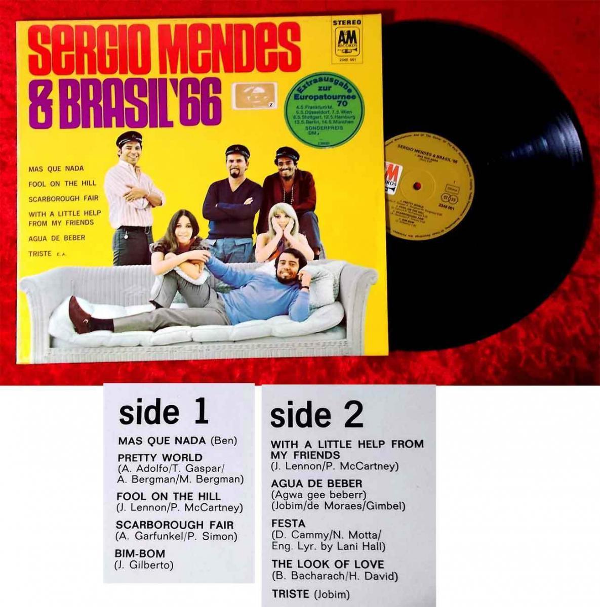 LP Sergio Mendes & Brasil ´66 - Sonderausgabe zur Europatournee 1970 (A&M) D