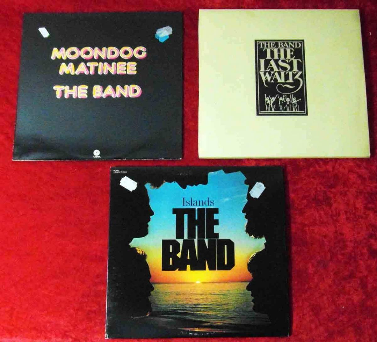 5 Langspielplatten THE BAND  - Vinylsammlung -