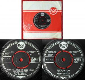 Single Elvis Presley:Just Tell Her Jim Said Hello (RCA 45-RCA-1303) UK 1962