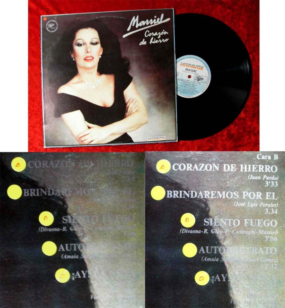LP Massiel: Corazon de Hierro (Hispavox FR 1031) Spanien 1983