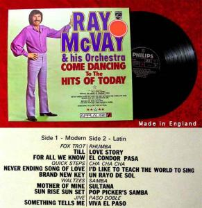 LP Ray McVay: Come Dancing to the Hits of Today (Philips 6414 304) UK 1972
