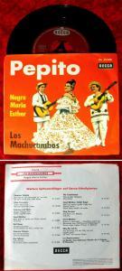 Single Los Machucambos: Pepito (Decca DL 25 046) D 1962