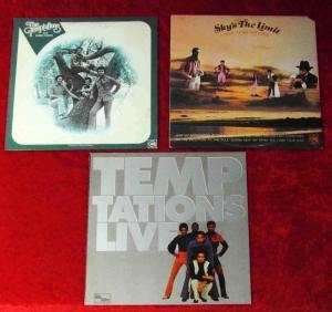 3 Langspielplatten TEMPTATIONS  - Vinylsammlung -