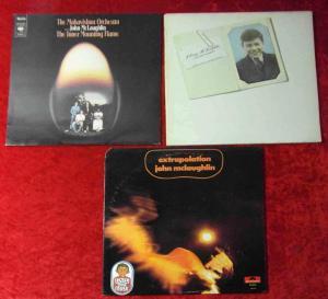 3 Langspielplatten JOHN MCLAUGHLIN - Vinylsammlung -