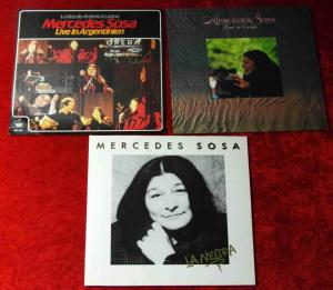 3 Langspielplatten MERCEDES SOSA - Vinylsammlung -