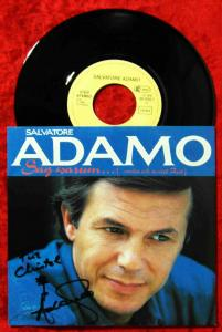 Single Adamo: Sag warum... (EMI 1C 006-20 1532 7) D 1986 Cover signiert!!