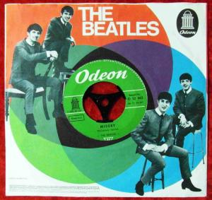 Single Beatles: Misery /Ask me why (Odeon O 22 663) Beatles Firmenlochcover D