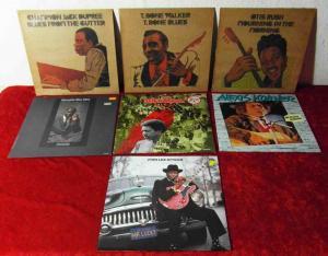7 Langspielplatten BLUES - John Lee Hooker Alexis Korner usw... Vinylsammlung -