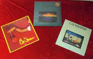 3 Langspielplatten CAT STEVENS - Vinylsammlung - (incl. 1 LP Still Sealed)