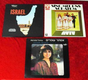 3 Langspielplatten ISRAEL / ESTHER OFARIM  - Vinylsammlung -