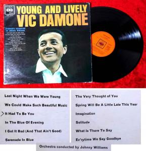 LP Vic Damone: Young and Lively (CBS BPG 62115) UK 1962