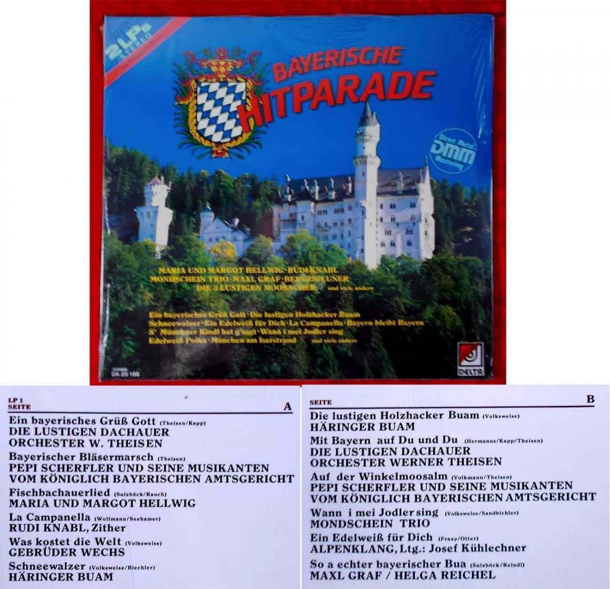 2LP Bayerische Hitparade (Delta DA 20 188) D 0