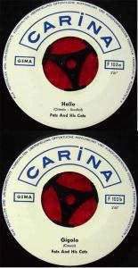 Single Fats & His Cats: Hello / Gigolo (Carina F 1036) D