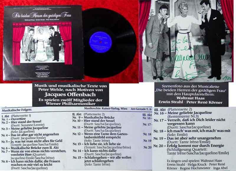 LP Die beiden Herren der gnädigen Frau 1982 Signiert 0