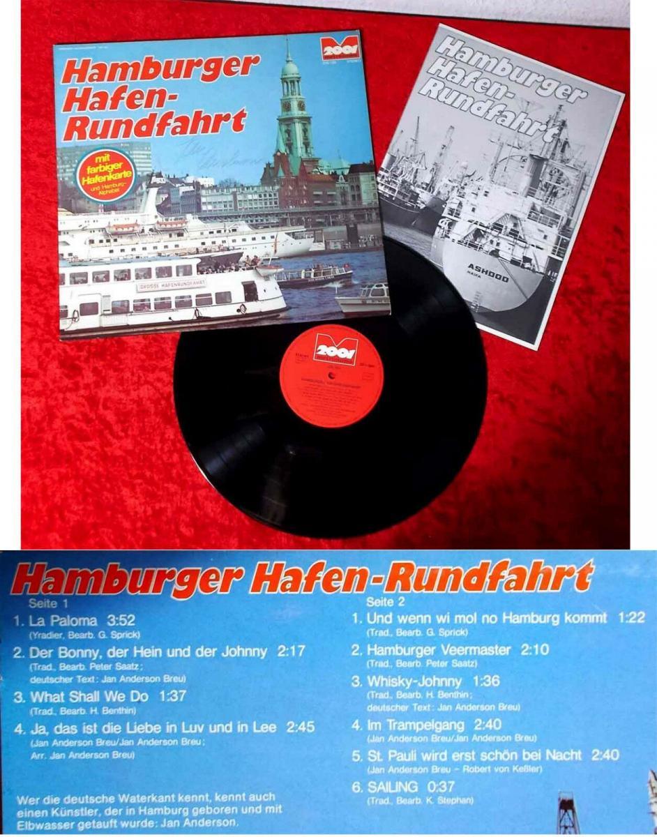 LP Hamburger Hafen-Rundfahrt mit Jan Anderson (Signiert) (2001 200.183) D 1974 0