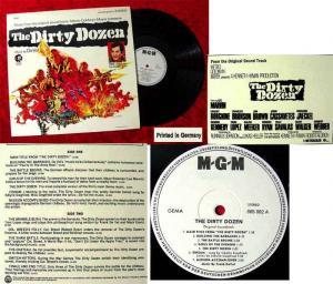 LP Dirty Dozen Frank DeVol Starring Lee Marvin Trini Lopez Charles Bronson Promo