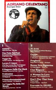 LP Adriano Celentano: Europa Tour - Greatest Hits (Ariola 200 523-320) D