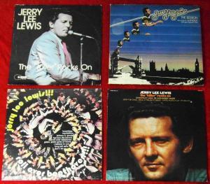 5 Langspielplatten JERRY LEE LEWIS   - Vinylsammlung -