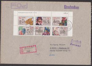 DDR Sorbische Volksbräuche Zdr. mir DV 2716/11 DV auf R-Brief Aschersleben Zampern Johannisreiter