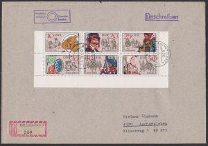 DDR Sorbische Volksbräuche Zdr. mir DV 2716/11 auf R-Brief Aschersleben Zampern Johannisreiter