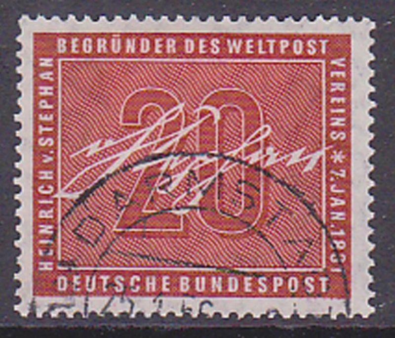 Heinrich von Stephan  Germany BRD 227 gestempelt used Weltpostverein UPU