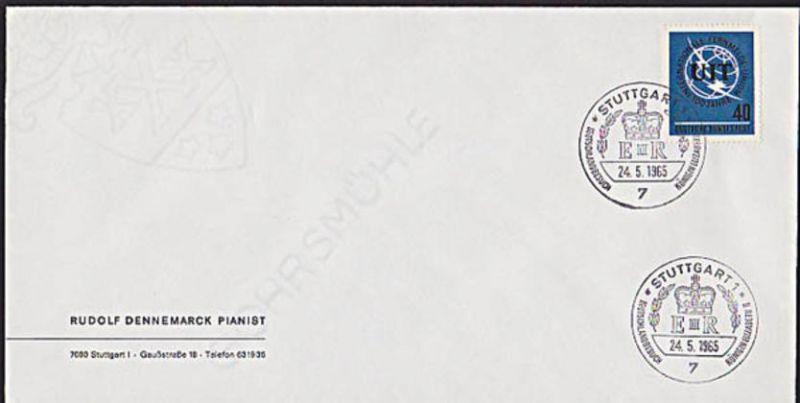 SSt. Königin Elizabeth Stuttgart  II. Deutschlandbesuch Brief BRD 476