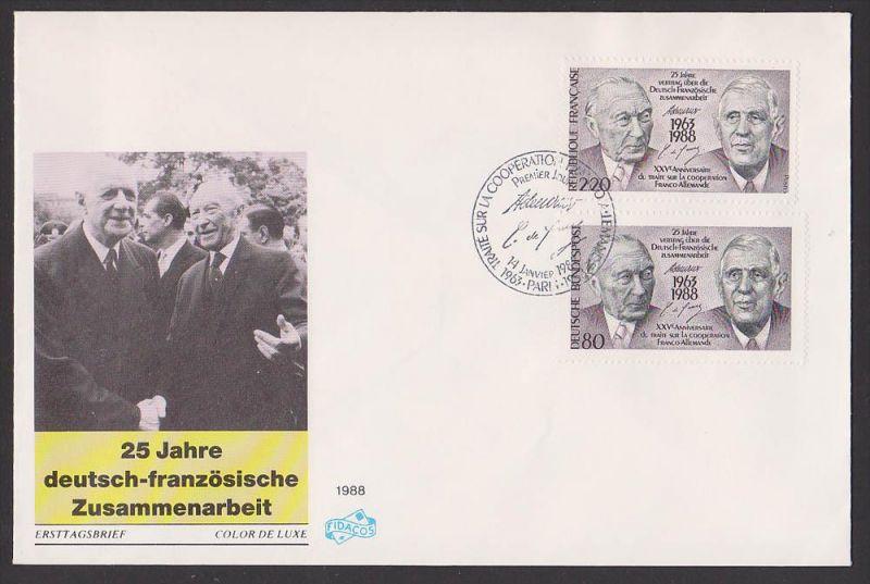 Konrad Adenauer Charles de Gaulle Vertrag deutsch-französiches Zusammenarbeit