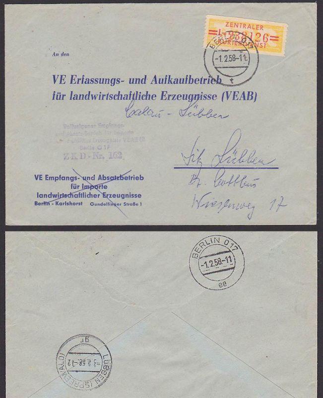 BERLIN O17 DDR ZKD B17L DIA Glas-Keramik, ZKD-Nr. 110 1958 ...