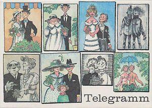 Télégramme DDR Telegramm Schmuckblatt Lx 68